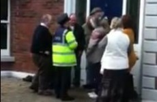 Listen: 'The bailiffs are here trying to break in the door of my house right now'