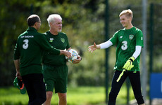 Promising young Liverpool goalkeeper called up to train with Ireland's senior squad