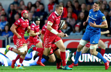 Scarlets survive grandstand finish to inflict first league defeat on champions Leinster