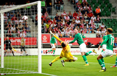 O'Brien nets on debut as Ireland steady the leaking ship in Wroclaw