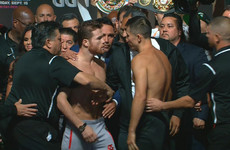 Spike and Lemieux, Canelo and Golovkin separated during fiery Vegas weigh-ins