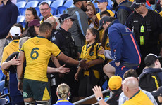 Wallaby fan confronts players after loss to Argentina