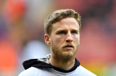 Ireland international Eunan O'Kane suffers double leg break