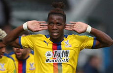 Zaha: I'd have to break my leg for someone to get a red card!