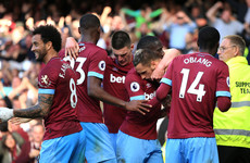 Declan Rice impresses in midfield as West Ham pick up first points of the season