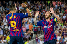 Messi bags hat-trick to equal Raul's Champions League goal-scoring record as Barcelona thump PSV