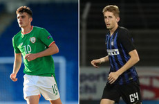 Ireland youngsters do battle as Spurs striker Troy Parrott bizarrely sent off against Ryan Nolan's Inter