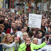 House in Crumlin occupied as housing activists shut down part of O'Connell Street