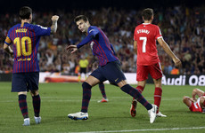 Pique rescues 10-man Barca as Messi breaks another La Liga record