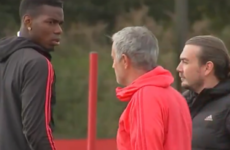 Mourinho and Pogba in frosty training ground exchange