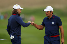 Fleetwood and Molinari offer glimmer of hope as Team Europe avoid whitewash in opening fourballs