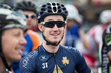 Eddie Dunbar secures top 20 finish at the road world championship