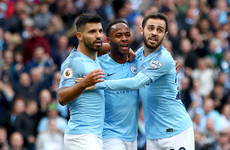 Still unbeaten: Sterling and Aguero on target for champions as Manchester City see off Brighton
