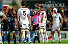 Ulster flanker could face ban for in-air tackle which earned him red card