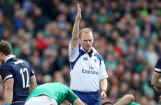 Wayne Barnes to referee Ireland's November clash with All Blacks