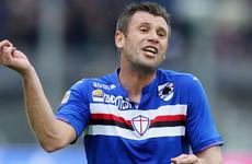 Former Italy international Cassano announces retirement... again