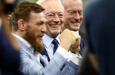 Conor McGregor throws pass for Cowboys before big Dallas win
