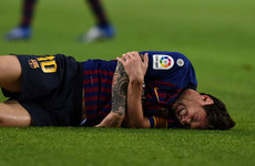 Barca concern ahead of Clasico as Messi injured in win over Sevilla