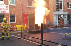 Dublin firefighters stage explosive demonstration to warn kids of dangers of fireworks