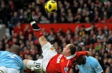 Now it's official: Rooney's overhead kick voted Premier League's best