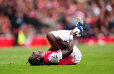Bacary Sagna to miss Euro 2012 after breaking his leg against Norwich