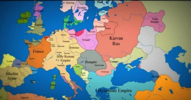 Epic Timelapse Map of Europe of the Day