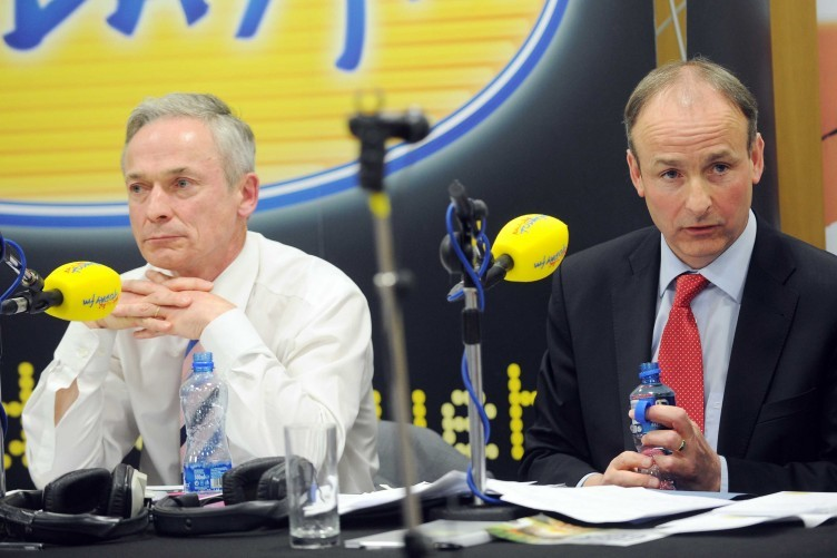 """Did he just say that?"" Richard Bruton, left, mentioned a second referendum in the Today FM referendum debate this week - and then quickly retracted it."