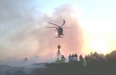 Air Corps helicopter fights Donegal forest fire