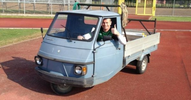 We're on the road — Shay Given in the driving seat at Tuscan training camp
