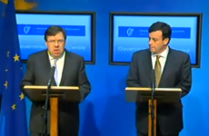 Outrage over RTÉ television coverage of bailout announcement