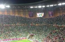 VIDEO: Ireland fans sing The Fields of Athenry in Gdansk