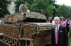 Video: US Army celebrates 237th birthday with cupcake tank
