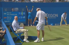 VIDEO: David Nalbandian kicks an old man in the shin