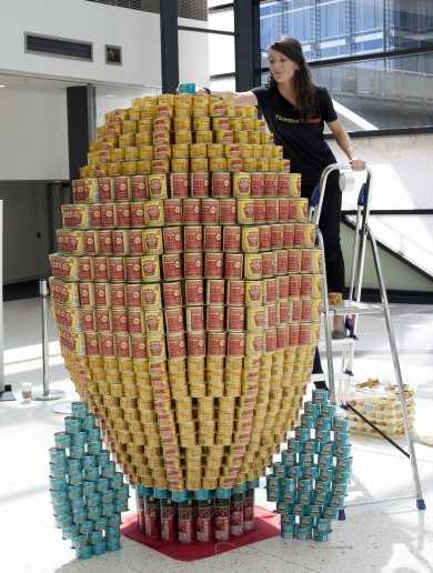 Impressive Sculpture Made Out of Tin Cans of the Day