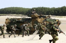 North Korea criticises 'provocative' use of its flag during drills