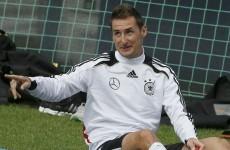 Stereotyping: Lazio striker Klose acting as German spy