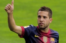 Done deal: Barcelona unveil new signing Alba