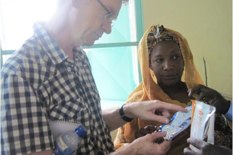 Plan Ireland CEO David Dalton with Sister Marietou, a nurse in Tillaberi hospital in Northwestern niger.