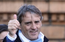 Going nowhere: Roberto Mancini extends Man City stay