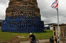 PHOTOS: Giant bonfires built in Belfast ahead of 12 July