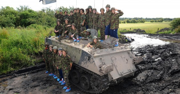 Your female footballers preparing for Olympics in a tank picture of the day