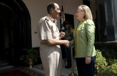 "Clinton urges Egypt to commit to ""strong democracy"""