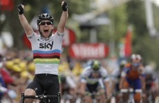 Sprint Finish: Mark Cavendish holds off charging Nicolas Roche to win Stage 18