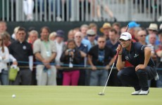 The Open 2012: Jittery start for leader Scott, bunker blues for Woods