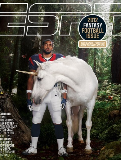 Arian Foster is better than you because he's friends with a unicorn