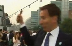 Video: British culture secretary Jeremy Hunt suffers 'bell malfunction' [updated]