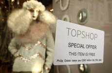Video: Tax protesters force Topshop store closure