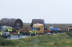 Shell lorry stuck at Co Mayo crossroads