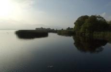 Abandoned upturned boat found on Lough Derg