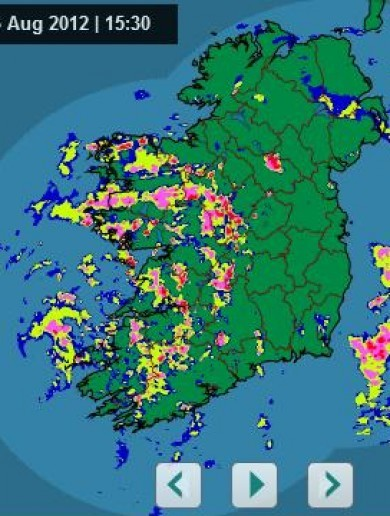 Here's the latest rainfall radar pic for Ireland